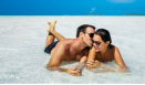 Couple Honeymoon on Beach