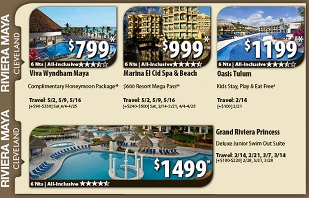 Vacation deals from Cleveland to Riviera Maya